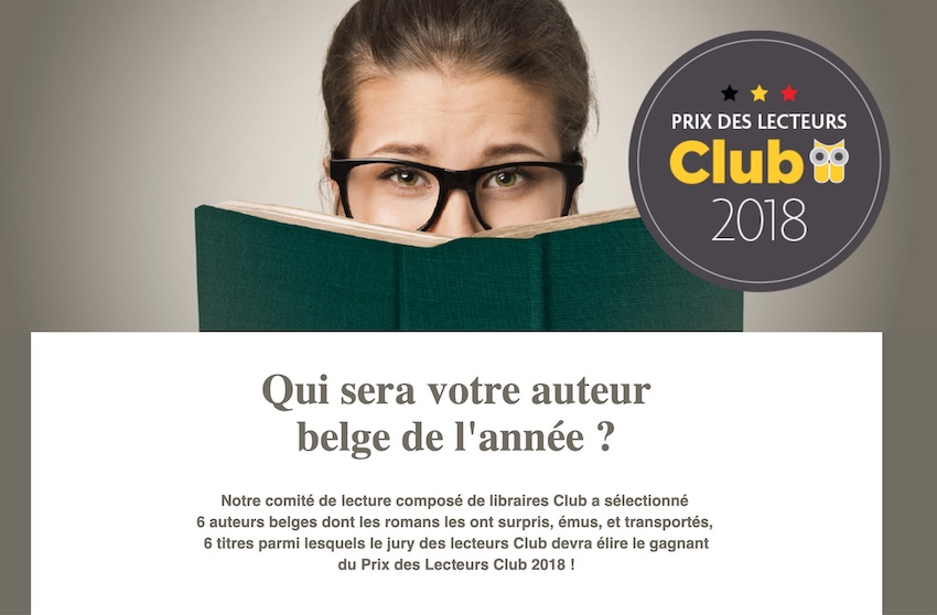 Prix des Lecteurs Club Belgique 2018